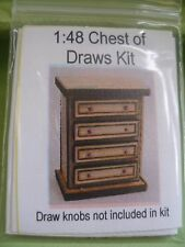DOLLHOUSE MINIATURE TINY CHEST OF DRAWERS KIT 1:48 SCALE- SUIT DOLL OR FAIRY