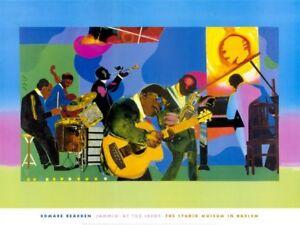 Jammin' at the Savoy by Romare Bearden Art Print Jazz Studio Music Poster 32x24