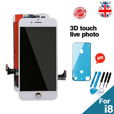 For iPhone 8 LCD Display Digitizer Screen Replacement Assembly White - 3D Touch
