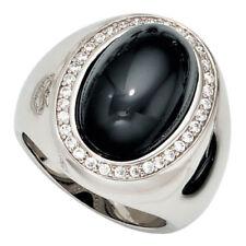 Onyx natürliche Echtschmuck-Ringe aus Sterlingsilber