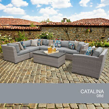 Catalina 8 Piece Outdoor Wicker Patio Furniture Set 08d