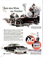 1952 AC PRINT AD Spark Plugs 1914 & 1952 Cadillac
