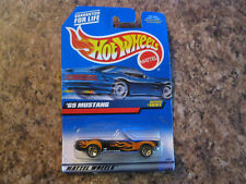 Hot Wheels 1965 MUSTANG Convertible 1999 1051 METAL Chassis, Black w/Flames Ford