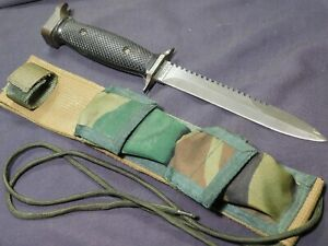 Imperial US M7S Survival Fighting Knife Dagger Sawback w/ Scbd A+