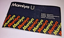 Instruction booklet for the classic Mamiya U 35mm compact camera, early 1980s