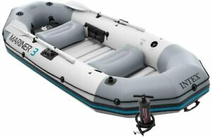 Intex Mariner 3 Inflatable Boat 3 Man Dinghy Set with Oars Pump and Bag UK Stock
