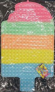 50cm Ice Cream Lolly Push it Bubble Pop Fidget Sensory Toy ADHD Stress Reliever