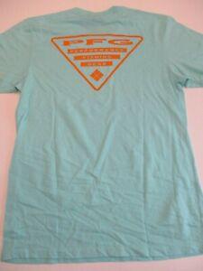 Columbia New PFG Fishing Short Sleeve Graphic T-Shirt Men's Medium Teal/Orange