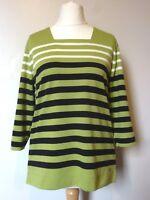 Tigi Borneo Striped Half Sleeve Square Neck Top Size 10-24 BNWT RRP £32.50 Kiwi