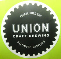 UNION CRAFT BREWING 4 inch Beer STICKER, Label, Baltimore, MARYLAND, Est. 2011