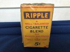 Antique NOS Unused Ripple Cigarette Blend 5 Cent Package Tobacco Advertising