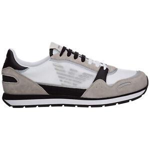 Emporio Armani sneakers men X4X537XM6781N638 logo detail suede shoes trainers