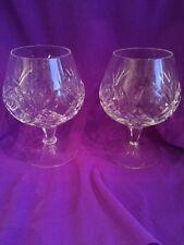 COPPIA di splendido cristallo/vetro tagliato Bicchieri da Cognac