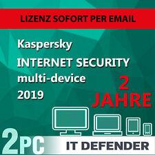 Kaspersky Internet Security 2019 2 PC 2 Jahre EU Deutch Antivirus /auch für 2018