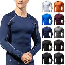 Men Compression Base Layers Long Sleeve T Shirt Sport Gym Running Athletic Tops