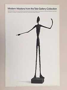 ALBERTO GIACOMETTI,MAN POINTING, EXHIBITION PRINT 1989 TATE GALLERY