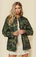 NEW NWT FREE PEOPLE Lightweight Jacket In Camo-green Oversized SZ XS RUNS LARGE