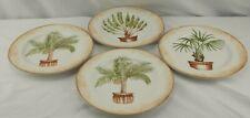 American Atelier Tropical Palm 5185 Set 4 Salad Plates A