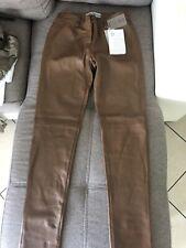 Pantalone/Leggings Donna Vera Pelle Ashley Brooke Tg 42 Trousers Real Leather