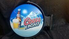 Vintage Coors Light Revolving Wall Lighted Sign - Bar Sign, Mancave - Works