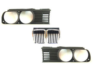 BMW 3 E30 Series 1982-1991 Front grille CENTER + RIGHT+ LEFT One SET New