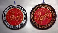 Karate shotokan karate belt, patch. diameter 10cm, 2 colors