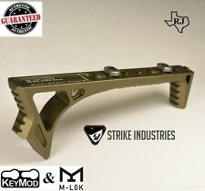 Strike Industries LINK Curved Angled Fore Grip FDE Fits BOTH  KeyMod & M-LOK FDE