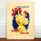 "Vintage Advertising Poster Art ~ CANVAS PRINT 8x12"" Job Cigarettes"