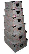 Cajas de almacenaje blancos de cartón para el hogar