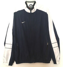 Nike Men's Windbreaker Jacket Vintage Logo Full Zip Retro Navy Blue White Size L