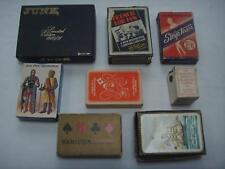 8 VINTAGE CARD GAMES STRIPTEASE, JUNK, FRENCH FOR FUN, JEU DES ARMURES ETC