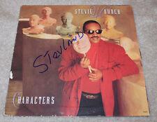STEVIE WONDER SIGNED AUTHENTIC 'CHARACTERS' RECORD ALBUM LP w/COA PROOF MOTOWN