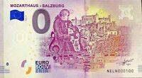 BILLET 0  EURO  MOZART SALZBURG    AUTRICHE   2018  NUMERO 100