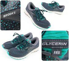Brooks Glycerin 16 Running Shoes Women's Sz 10 (B) - Gray/Teal - Fast Ship!