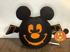 New listing Wdw Mickey Mouse Plush Black Pumpkin Bat Wings Trick or Treat Happy Halloween
