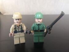 Lego Indiana Jones Minifigures Lot Russian & German soldiers W/ Guns WWI WWII