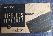 SONY WIRELESS KEYBOARD FOR THE SONY WEB TV INTERNET TERMINAL,RM-KW100,NEW