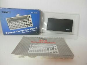 Vintage Tandy Pocket Computer PC-3-Box/Manual/New Batteries-Tested-Free Shipping