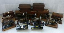 More details for 11x vintage hand crank sewing machines inc singer - for parts or repair