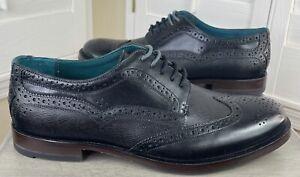 Ted Baker London Senape Black Leather Dress Shoes - Men's Size 11 - New w/Box