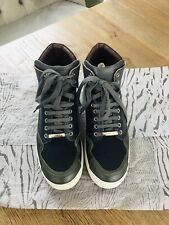 Christian Dior Homme High Top Sneakers Shoes Trainers- Leather Size U.K 8.5 Blue