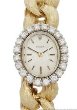 Genuine Rolex Diamond Solid Gold Mid Century Modern Vintage Ladies Watch
