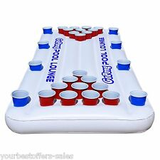 GoPong Inflatable Beer Pong Table Floating Pool Lounger Pool Games Beer Pong Set