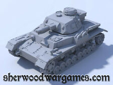 28mm German PzrIV Ausf F1 In Resin By Blitzkreig WWII Bolt Action,