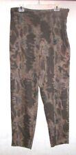 Toto N Ko Pants Sz 14 Brown Black Animal Print Straight Leg Slacks L