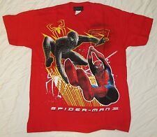 XL 16/18 SPIDER-MAN YOUTH T-SHIRT MARVEL COMICS SUPER BLACK HERO MOVIE EVIL RED!