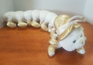 Vintage 1998 Lots-A-Leggggggs White & Gold 20 Leg Caterpillar by Commonwealth