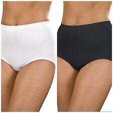 3 Pair Multipack Ladies Full Coverage Cotton Maxi Women's Brief Size 12-20 18 White
