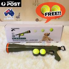 Dog Tennis Ball Launcher Gun Squeaky Balls Pet Play Fetch Throw Outdoor Toy