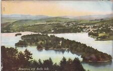 Bowness and Belle Isle Vintage Postcard
